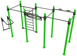 Bild von Calisthenics Outdoor Functional Training Station for up To 10 Users 30-03476